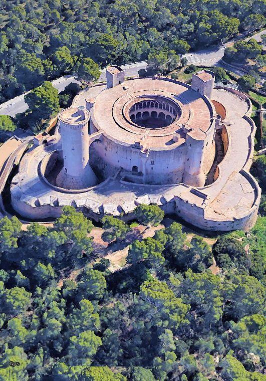Castillo de Bellver, Mallorca, Spain