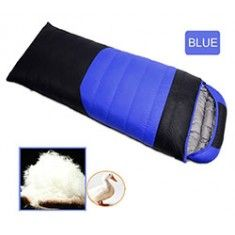 RioRand Duck Down Sleeping Bags Outdoor Camping & Hiking Ultralight Splicing Sleeping Bag for Adults Duck down Content 1.5kg(Blue &-15℃ to 5 ℃ /5 ℉ to 41℉)