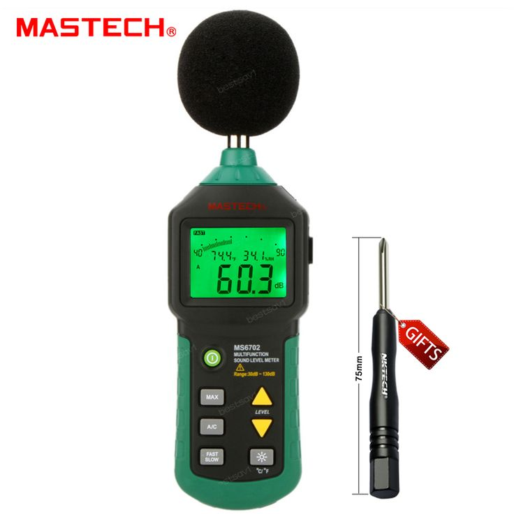 MASTECH MS6701 Autoranging Digital Sound Level Meter Decibel Tester 30dB to 130dB with RS232 Interface and Software #Affiliate