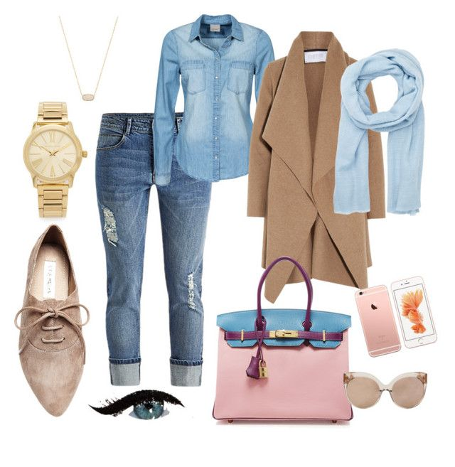 Run by evelin-pap on Polyvore featuring polyvore, мода, style, Vero Moda, Harris Wharf London, Steve Madden, Hermès, Michael Kors, Kendra Scott, Denis Colomb, Linda Farrow, fashion and clothing