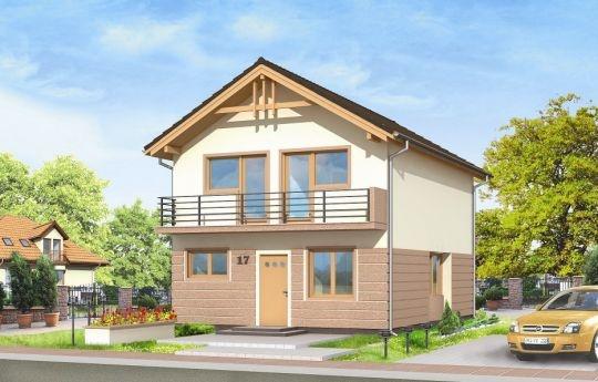 Projekt Dom Z Piętrem to piętrowy budynek dla rodziny czteroosobowej o prostej bryle i bezpretensjonalnej architekturze. Pasujący na wąską działkę, szczególnie wśród istniejącej ścisłej zabudowy. Na parterze zaprojektowano dużą otwartą przestrzeń dzienną oraz pomieszczenia techniczne. Na piętrze mieszczą się trzy wygodne sypialnie - bez skosów - oraz łazienka i garderoba.