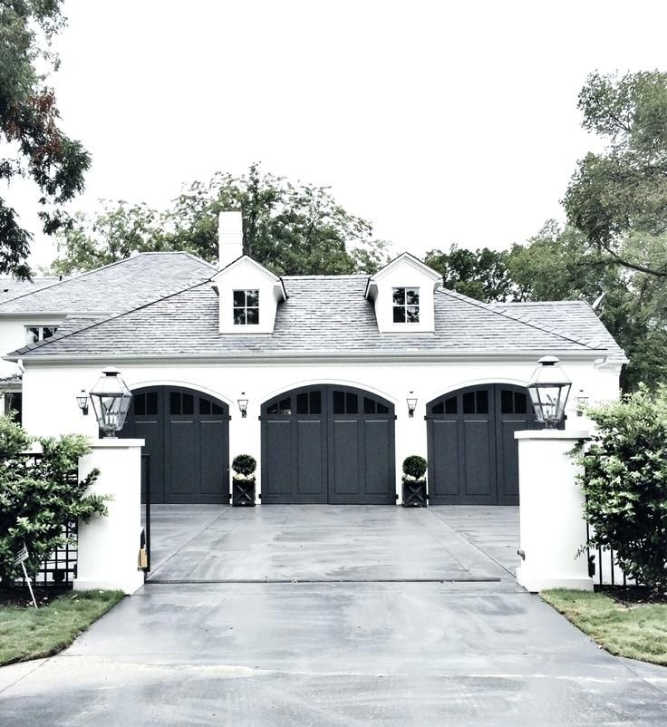 Image Result For White House With Black Metal Roof House Exterior Garage Door Design House Styles