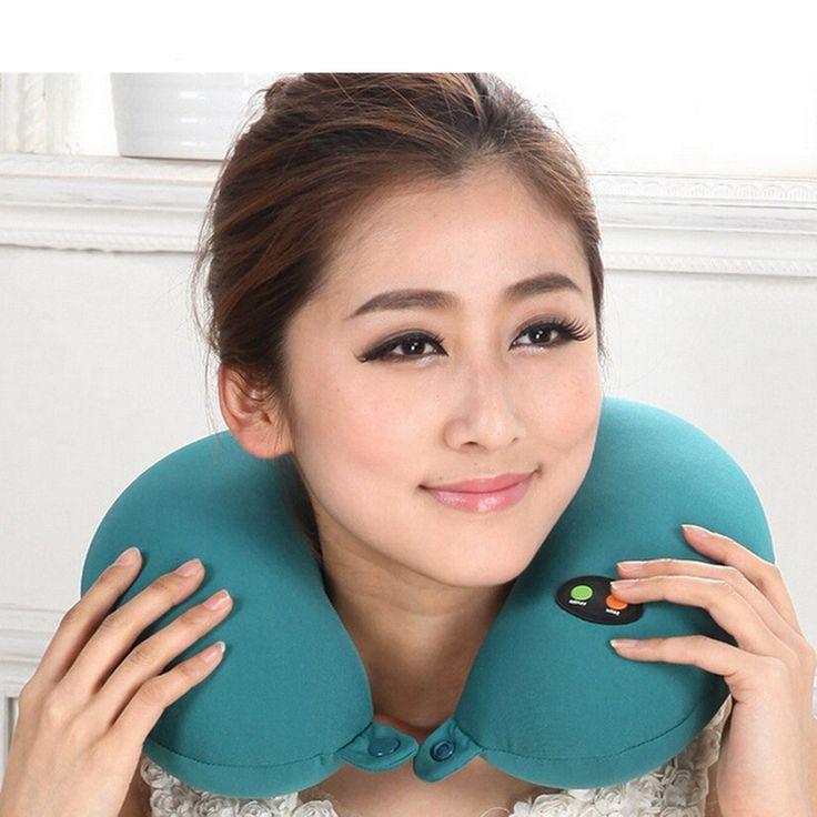 Forma de U travesseiro massageador elétrico Relaxar almofada Seis velocidade ajustável pescoço massageador travesseiro verde Chip Inteligente Modo Ajustável em Massagem & Relaxamento de Beleza & Saúde no AliExpress.com | Alibaba Group