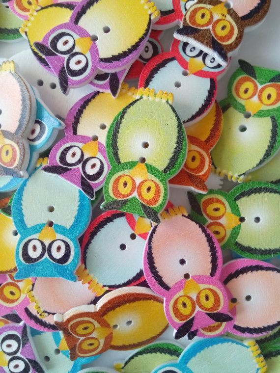 Check out this item in my Etsy shop https://www.etsy.com/uk/listing/171991952/pack-of-6-wise-owl-wooden-buttons-for
