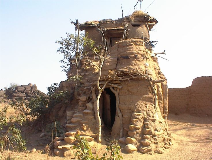 A lovely tiny house, believed to have been built by a blind man, in the Tonga Hills, near Bolgatanga, Ghana.