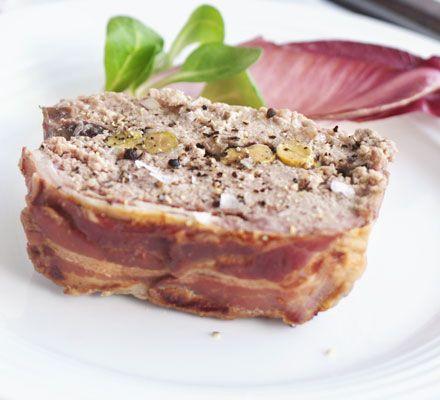 Starter: Duck & pork terrine with cranberries & pistachios