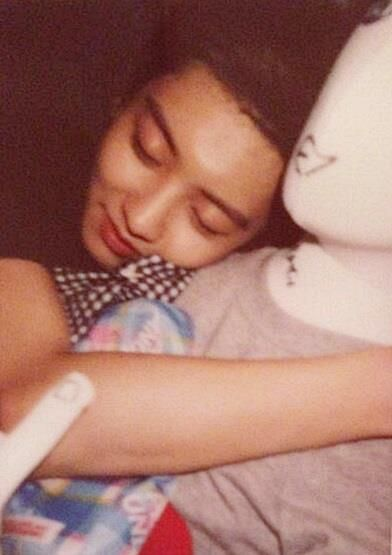 Baby Chanyeol sleeping :) <3