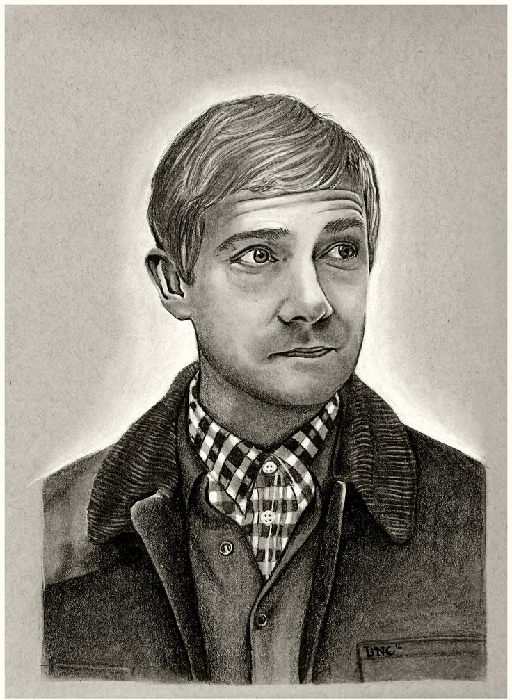 John Watson, Staedtler Graphite Pencils and White Conté Pastel on Strathmore Toned Grey Paper (9X12)