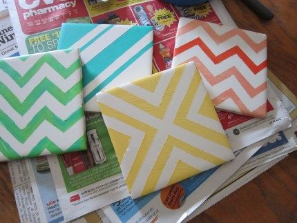 painted coasters DIY