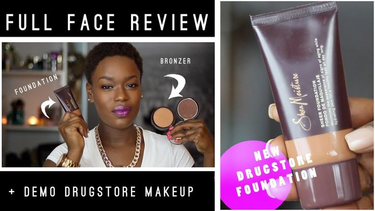 #SheaMoisture FULL FACE Review | Foundation & Bronzer #firstImpression and demo. Youtube.com/DestinyGodley