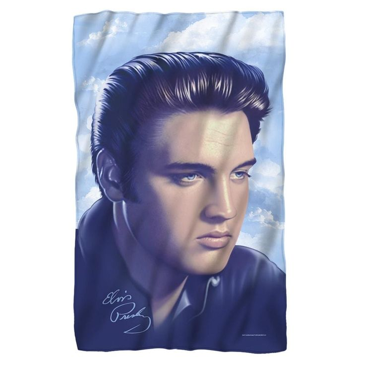 Elvis Presley - Big Portrait Polar Fleece Blanket