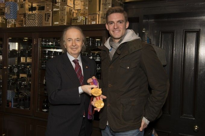 Gold on Gold: Double Olympic Gold Medalist, Pete Reed MBE, visits Grays of Westminster