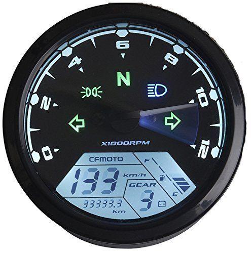 Reddragonfly -mph / kmh 199 km/h 12000 rpm LCD Digital Speedometer Tachometer Odometer for Honda Motorcycle Scooter Dirt Bike   Best Motorbike Reviews