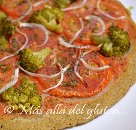 Más allá del gluten...: Pizza sin Gluten, sin Huevos y sin Levadura (Receta GFCFSF, Vegana)
