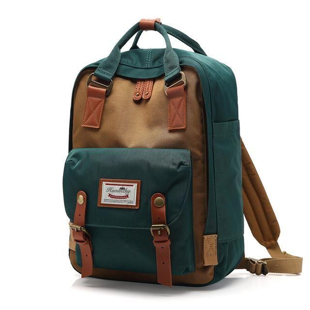Color : Brown Mens Backpack Laptop Backpack Large Capacity Fashion Backpack Student Backpack Waterproof Rucksack Practical Backpack