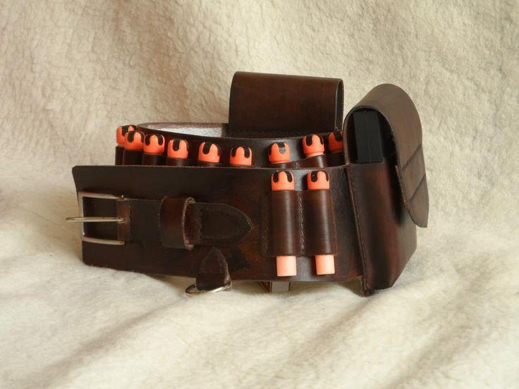 Leather belt, 12 darts, 2 magnetic pockets