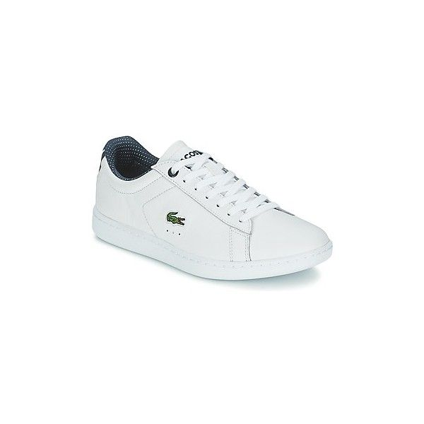 Lacoste Carnaby EVO 116 1 Shoes (Trainers) (8,490 INR) ❤ liked on Polyvore featuring shoes, sneakers, trainers, white, women, white sneakers, lacoste shoes, white shoes, white trainers and lacoste trainers