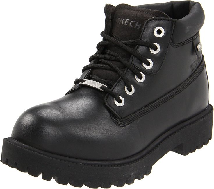 Amazon.com: Skechers Mens Sergeants-Enlisted Boot: Sketcher Work Boots: Clothing