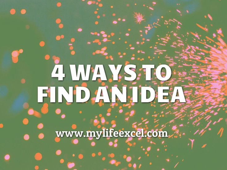 4 Ways to find an idea: Lessons drawn from @Gladwell's 'The Tipping Point' on how to find an idea. http://www.mylifeexcel.com/4-ways-find-idea/ via @jabulaniapeh