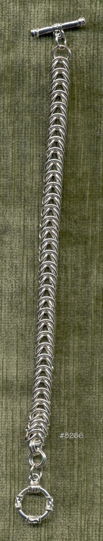 Handmade Unisex Chainmail Bracelet. $18.00, via Etsy.