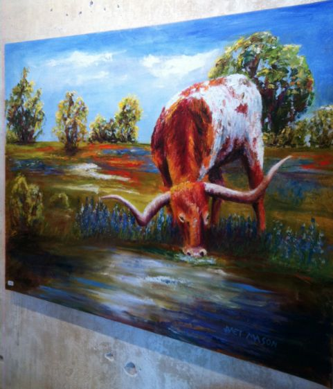 Longhorn | Oil painting by Janet Mason | Llano, Texas