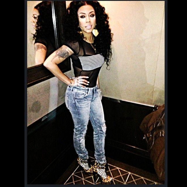 Keyshia Cole Instagram American Apparel Fiona Bodysuit
