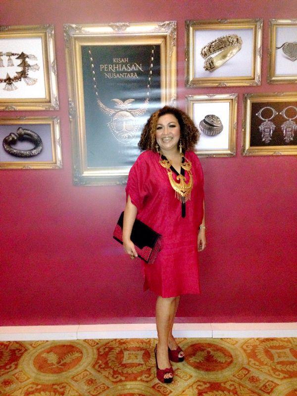 with CEMARA Clutch Bag & PRAYA Shoes by PRibuMI...®