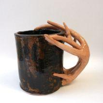 MUGS | THE CREATIVE ART ROOM.... Ceramic Mug. 3D Art Project. Student Artwork. High School Art.