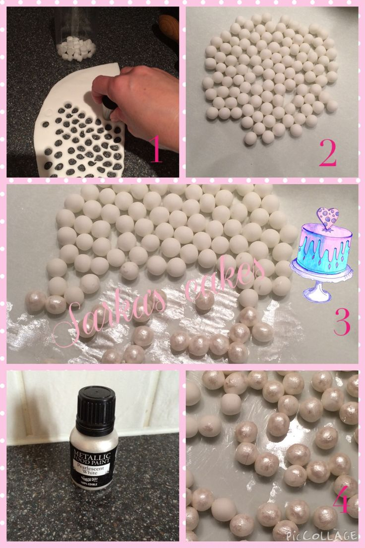 How to make home made gum paste perls by Sarka's cakes