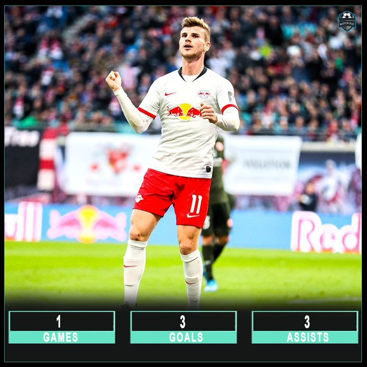 Timo Werner For Rb Leipzig Against Mainz 3 Goals 3 Assists A Hat Trick Of Goals And Assists