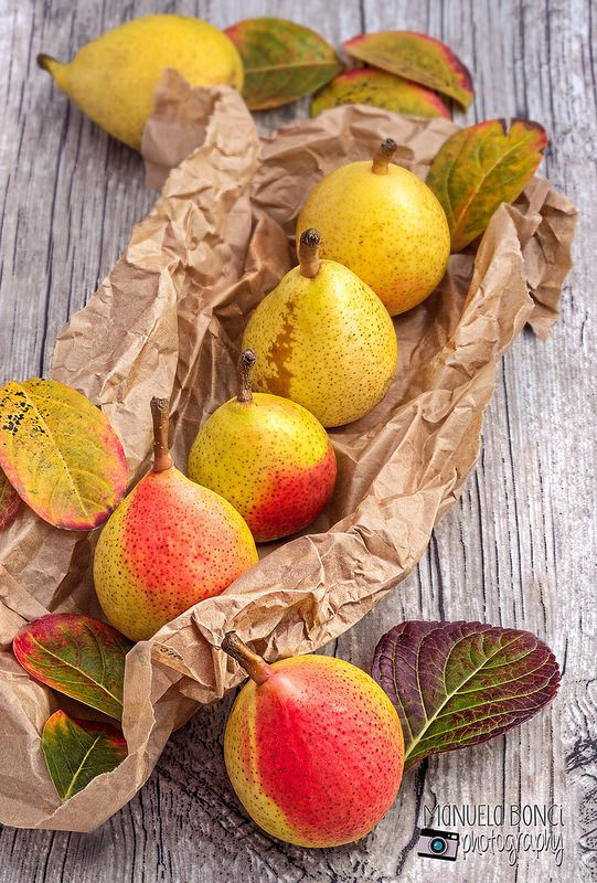 pere in autunno. pear in autumn. Food photography