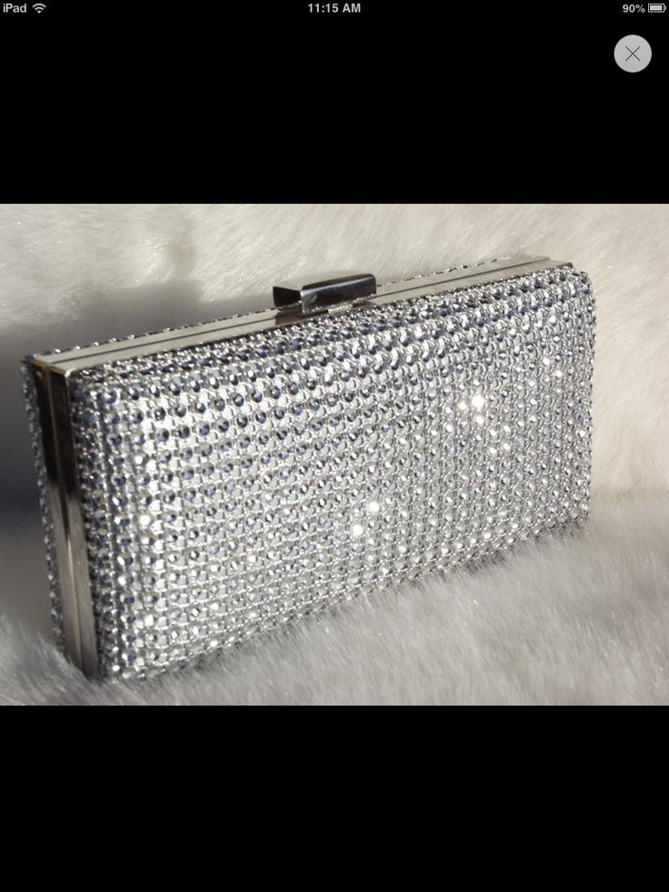 Diamanté clutch bag