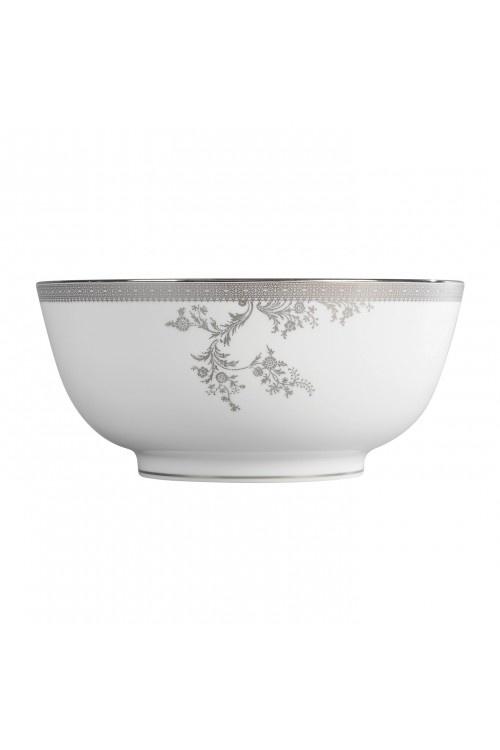 Vera Wang Lace Platinum Bowl 25cm #VWW
