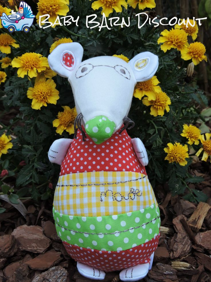 MAMAS AND PAPAS ELFIE AND MOP MOUSE BABY COMFORTER HUG SOFT TOY WITH CHIME