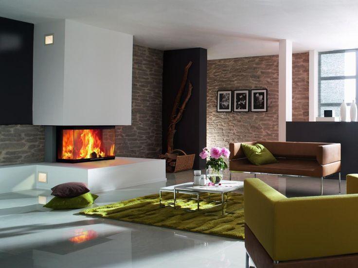 Espacios acogedores, salones que enamoran, así son las partes de tu hogar con una chimenea de leña #diseño #chimenea #leña, #salón #design #interiores