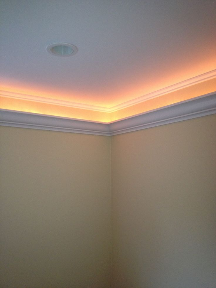 Crown Molding 6 Inches Down Hides A Rope Light Www