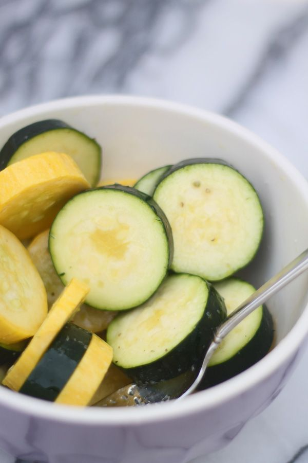 Grilled Zucchini & Squash Stacks with Mozzarella, Goat Cheese & Balsamic Drizzle - with or without cheese- both are YUM!