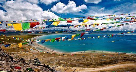 Namtso Lake and the Tibetan Buddhist Pra Photo by Nora de Angelli - www.noraphotos.com -- National Geographic Your Shot