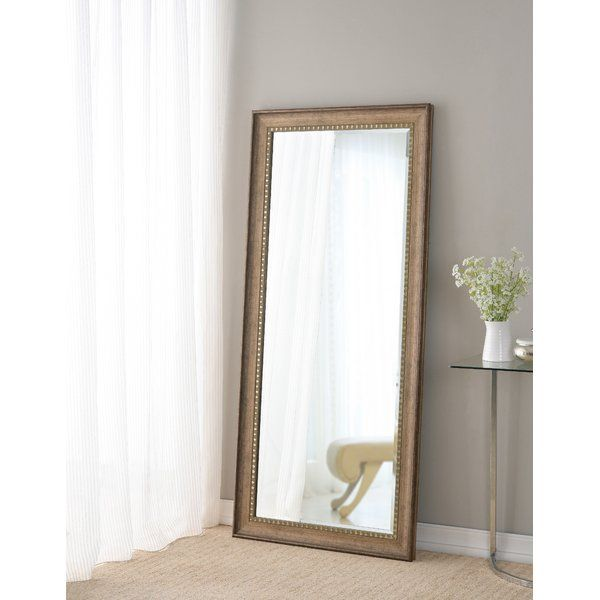 Brunswick Floor Rustic Beveled Distressed Full Length Mirror In 2020 Leaner Mirror Mirror Flooring