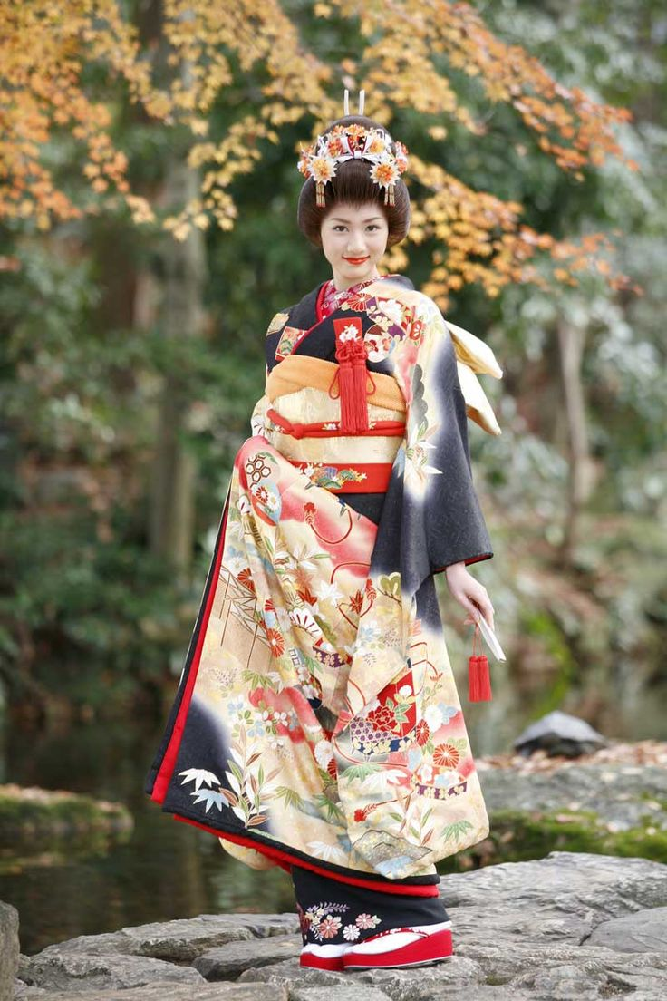 The Furisode Kimono is worn through a Japanese woman's life while she is single.
