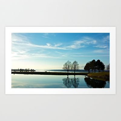 Mirrored Waters Art Print by BluFyre Productions - $16.50