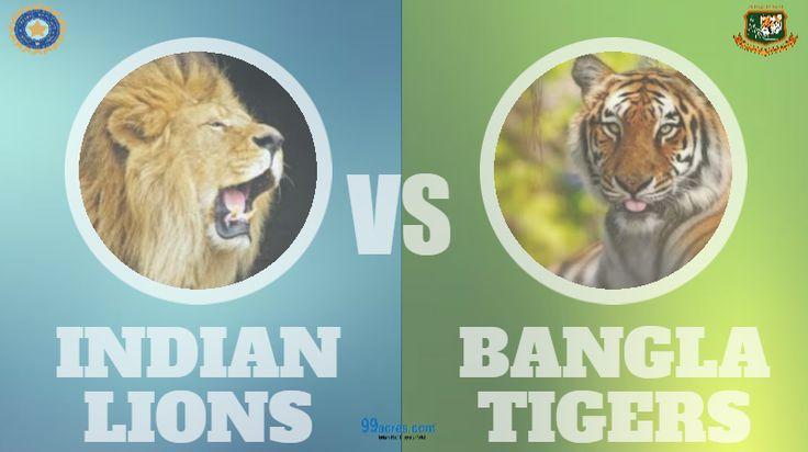 #INDvsBAN: Will this be a wild battle? #CWC15 #Cricket #India #Bangladesh #Lion #Tiger