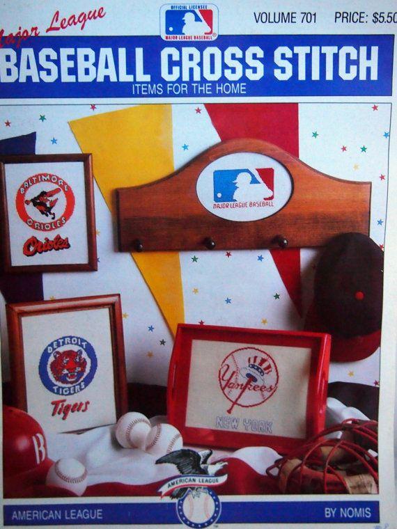 Major League Baseball Cross Stitch Items For The by NeedANeedle