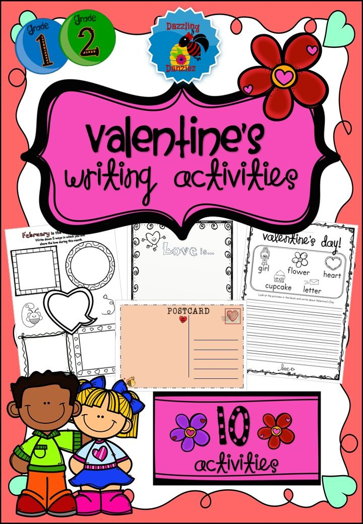 Valentine S Writing Worksheets Creative Writing In 2020