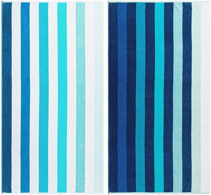 Beach Blanket Blueberry: Superior Coastal Beach Towels Set Of Two In 2019