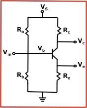 BJT Transistor Bias Voltage Calculator - Calculates for Series Resistor and Voltage Divider