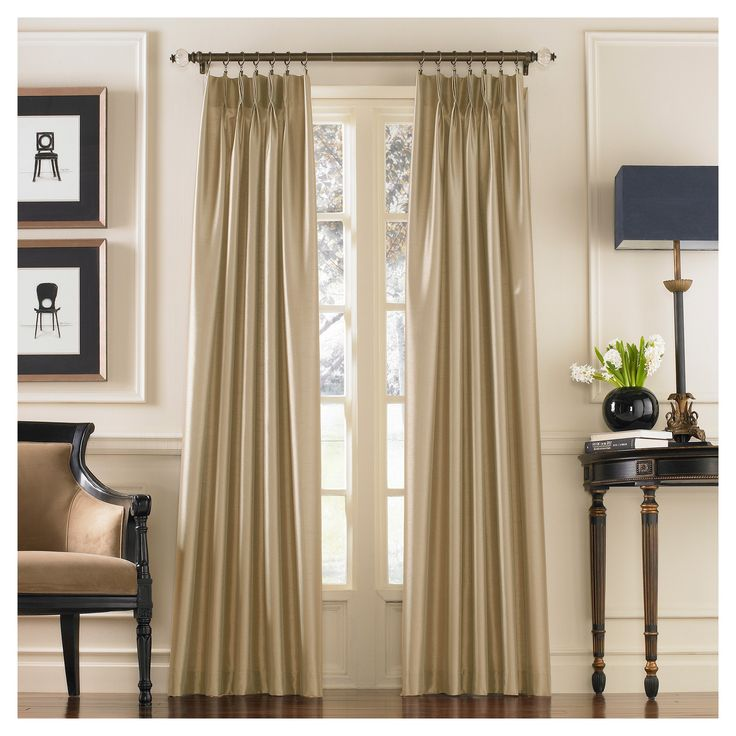 Curtainworks Marquee Lined Curtain Panel - Sand (Brown) (108)