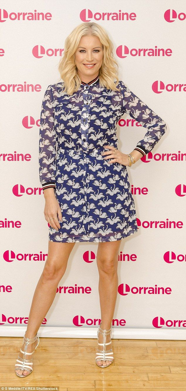 It works for them: Denise Van Outen, 42, told Lorraine Kelly how her unconventional relationship with ex Lee Mead, 34, benefits their daughter Betsy, six