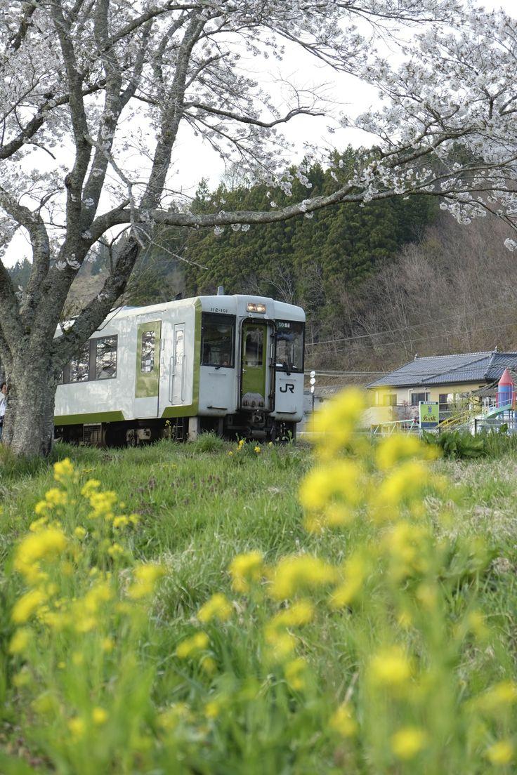 Natsui Sta.(JR Ban-Etsu East Line, Ono-town, Fukushima, JAPAN/2014.04)