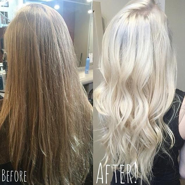 So icy! On pre-lightened, pre-toned hair, hairbystephscissorhands used #KenraColor Demi 8SM at the root and the 10SM through the mid shaft and ends. #MetallicObsession